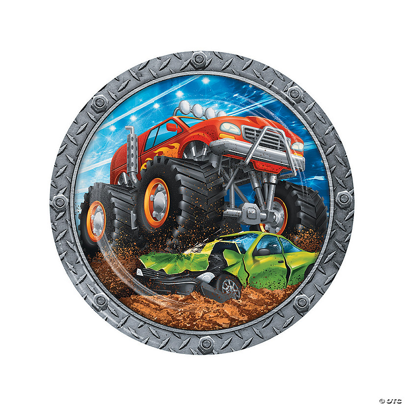 Monster Truck Party Paper Dinner Plates Audio Thumbnail