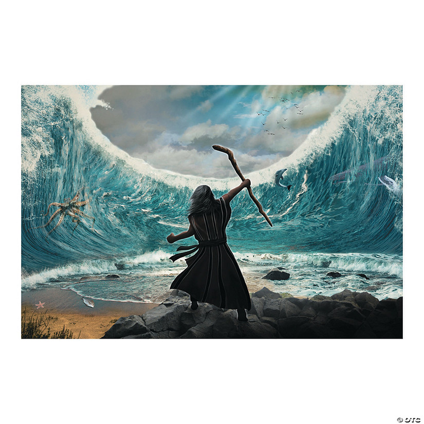 Moses Parting of the Red Sea Backdrop Banner