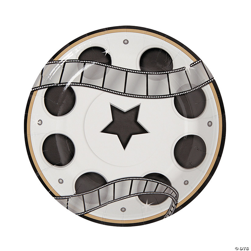 Movie Night Paper Dessert Plates - 8 Ct. Image Thumbnail