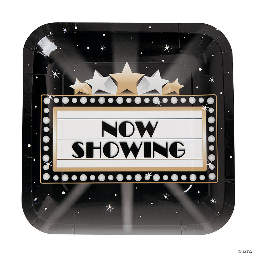 Movie Night Paper Dinner Plates - 8 Ct. Image Thumbnail