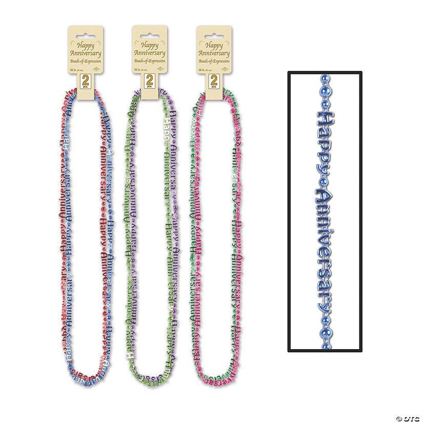 Multicolor Happy Anniversary Bead Necklaces Audio Thumbnail