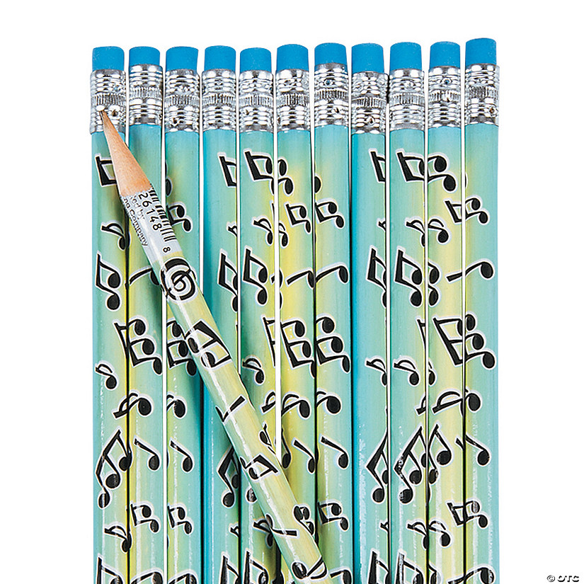 Musical Notes Pencils - 24 Pc. Audio Thumbnail