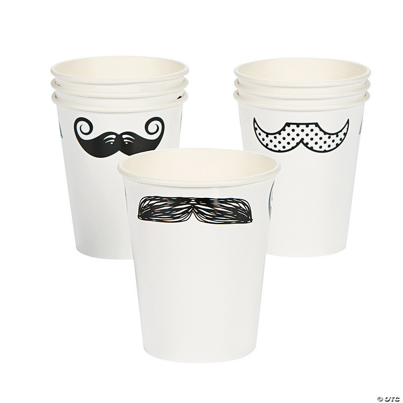 Mustache Party Paper Cups Image Thumbnail