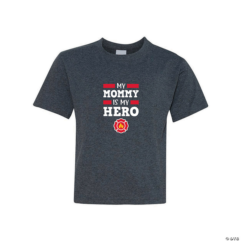 My Mommy Is My Hero Firefighter Youth T-Shirt Image Thumbnail