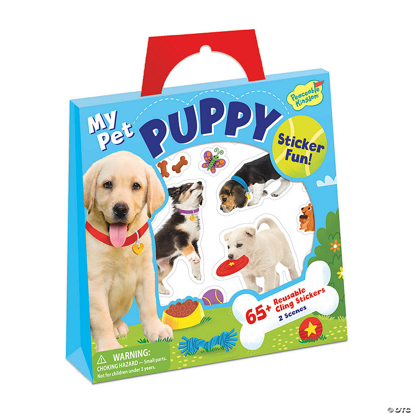 My Pet Puppy Reusable Sticker Tote Image Thumbnail