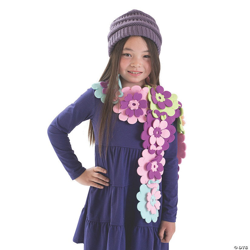 MYO Fleece Flower Scarf Image Thumbnail