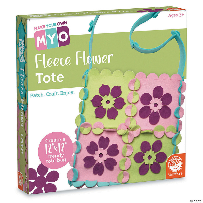 MYO Fleece Flower Tote Image Thumbnail
