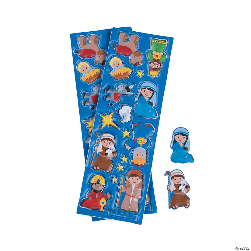 Nativity Puffy Stickers