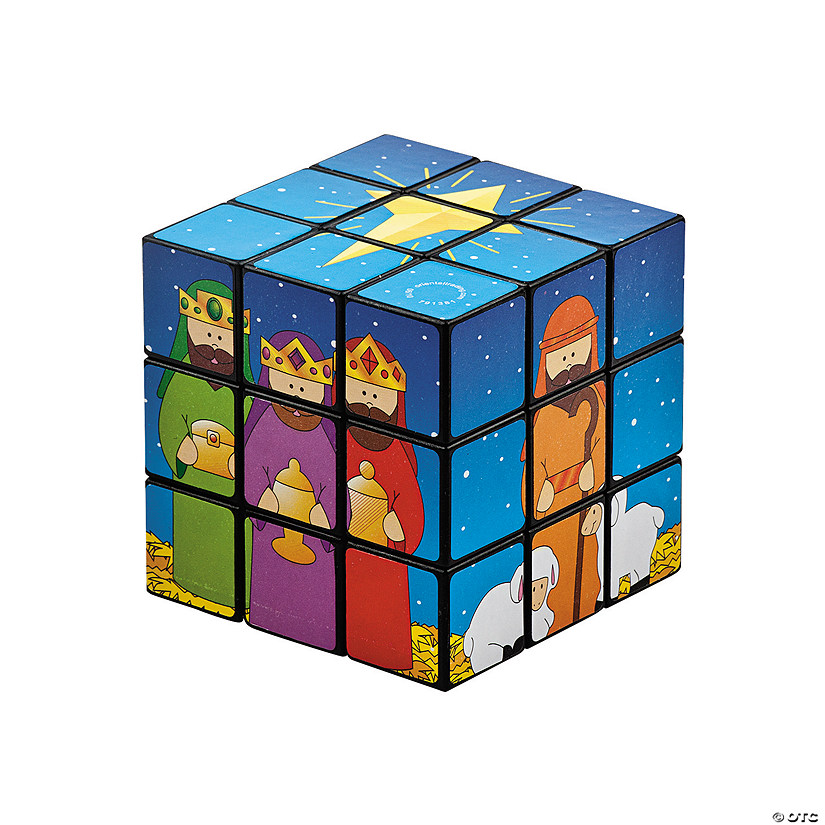Nativity Puzzle Cubes