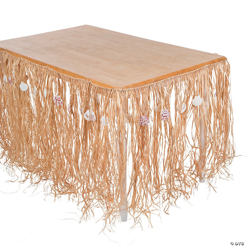 Natural Raffia and Sea Shell Table Skirt Audio Thumbnail