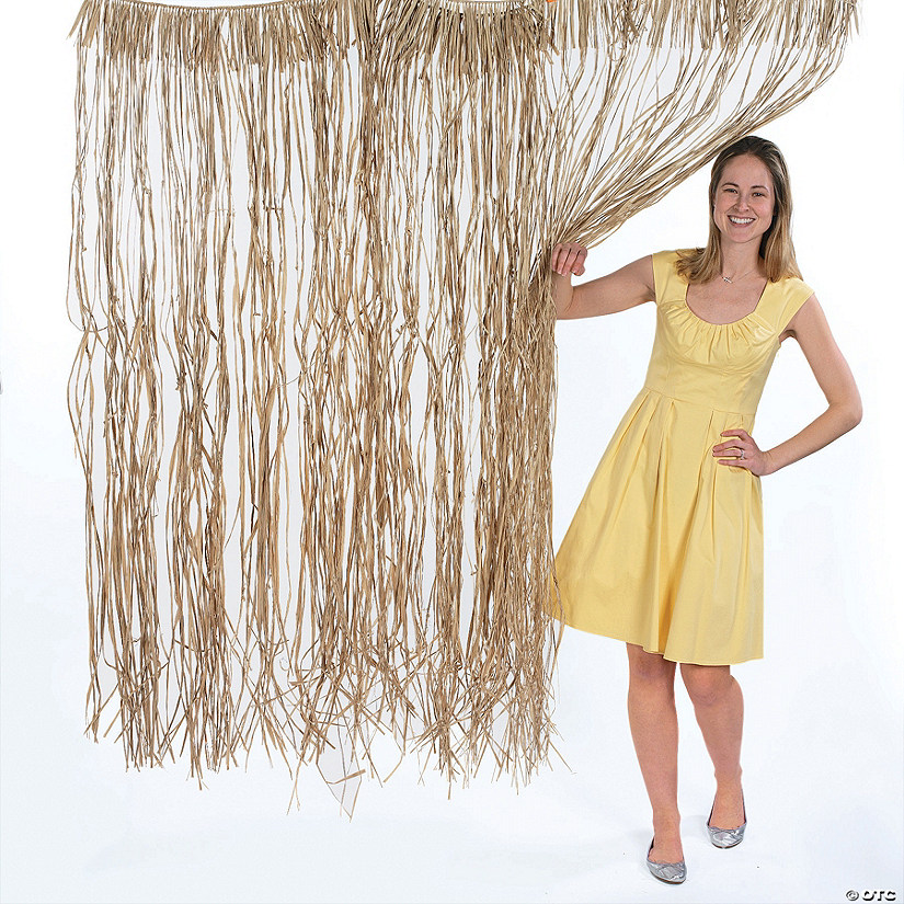 Natural Raffia Door Curtain Image Thumbnail
