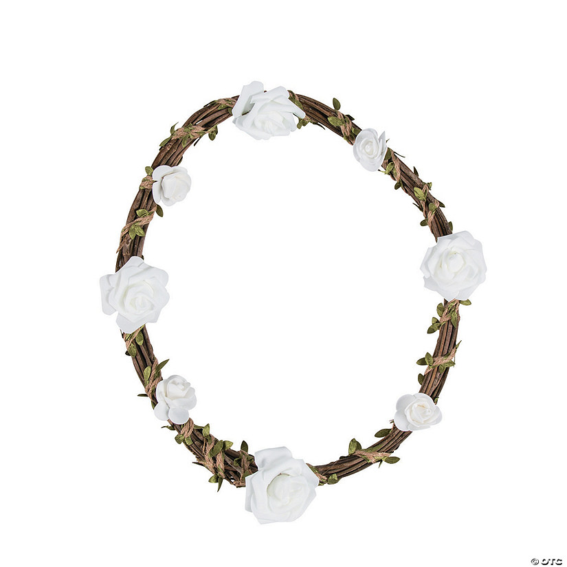 Natural Wreath with White Floral Accents Audio Thumbnail