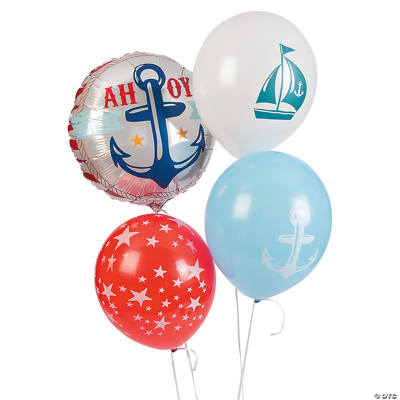 "Nautical Boy Baby Shower 11"" Balloon Assortment Audio Thumbnail"