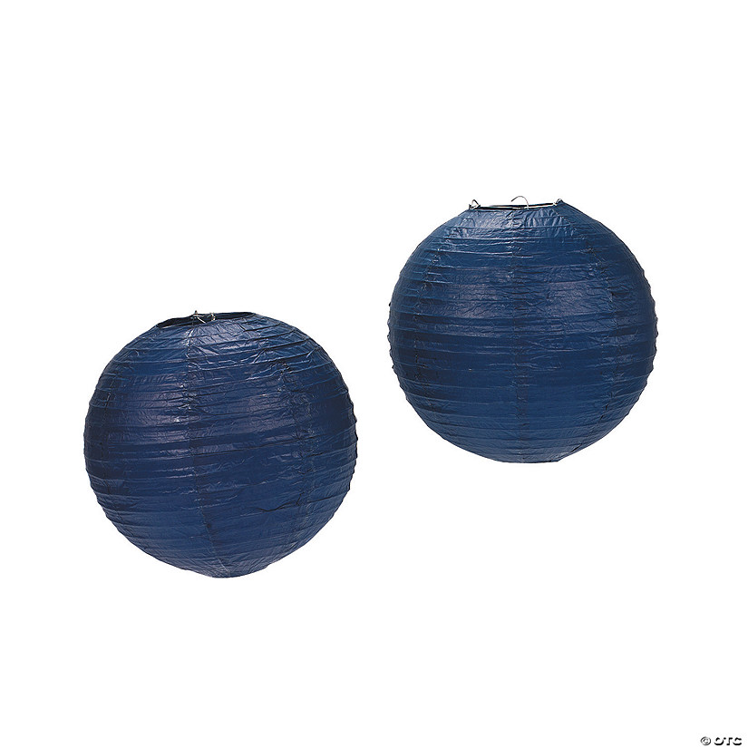 Navy Blue Hanging Paper Lanterns