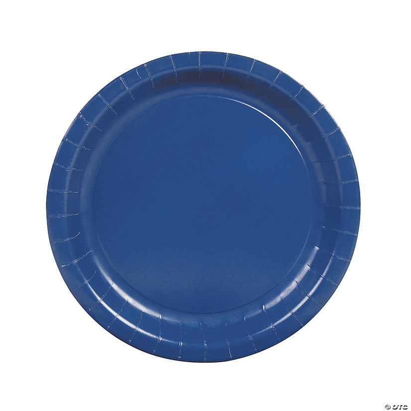 Navy Blue Paper Dinner Plates - 24 Ct. Audio Thumbnail