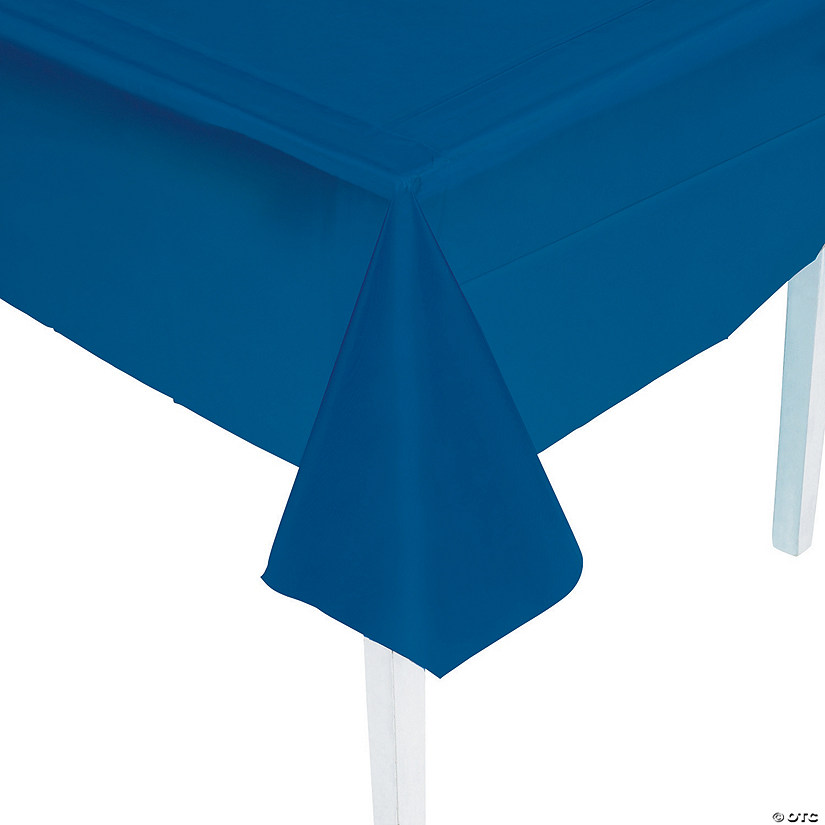 Navy Blue Plastic Tablecloth Audio Thumbnail