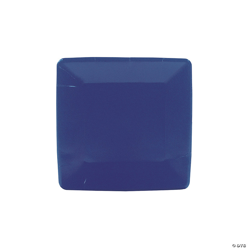 Navy Blue Square Paper Dessert Plates - 18 Ct. Audio Thumbnail