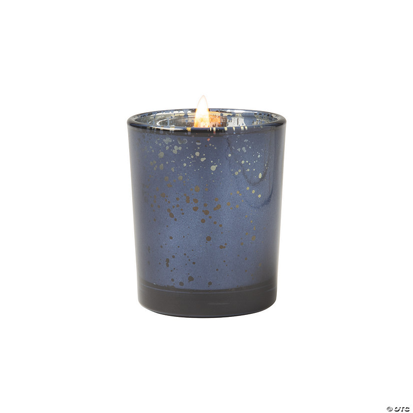 Navy Flecked Mercury Votive Candle Holders