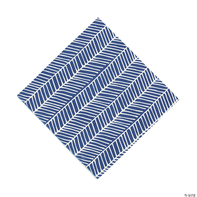 Navy Herringbone Luncheon Napkins Audio Thumbnail