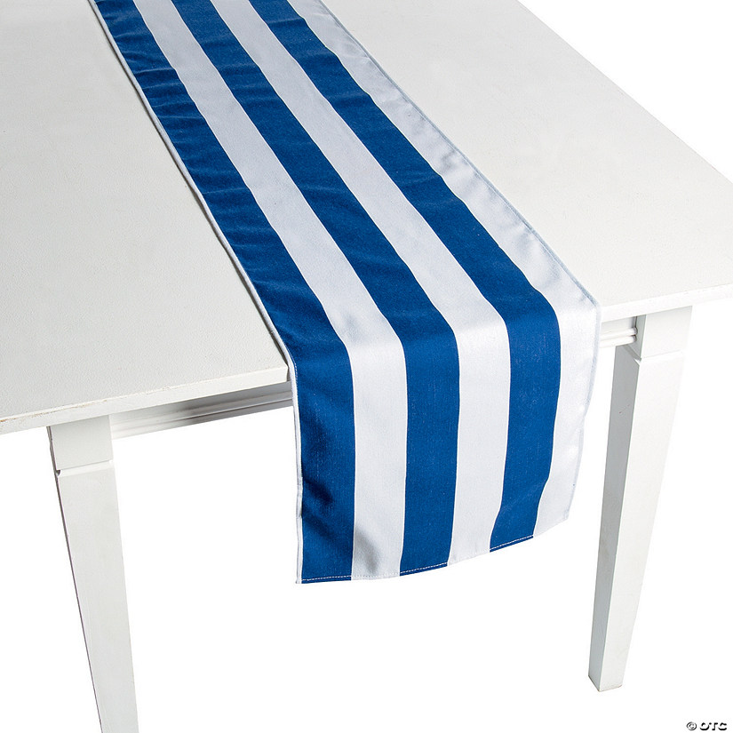 Navy Striped Table Runners Image Thumbnail