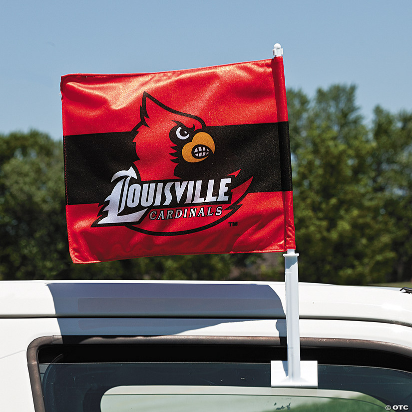 Louisville NCAA Car Flag