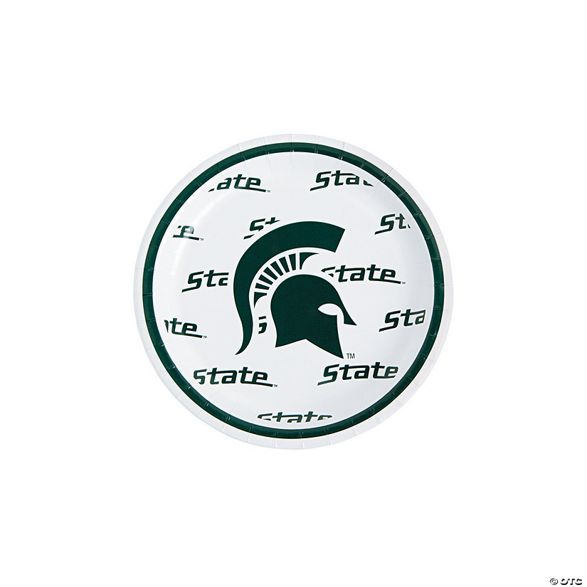 NCAA™ Michigan State Spartans Paper Dessert Plates - 8 Ct. Image Thumbnail