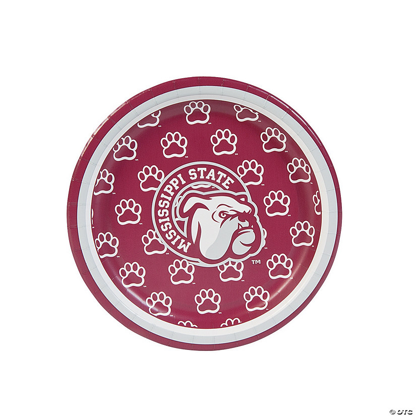 NCAA™ Mississippi State Bulldogs Paper Dessert Plates - 8 Ct. Audio Thumbnail