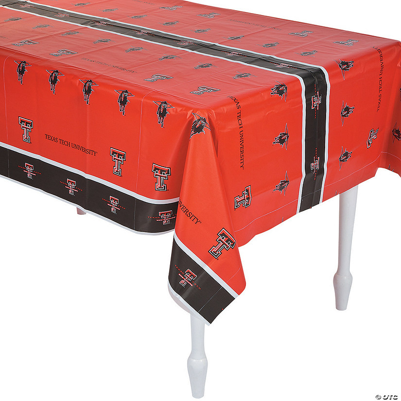 NCAA® Texas Tech Plastic Tablecloth