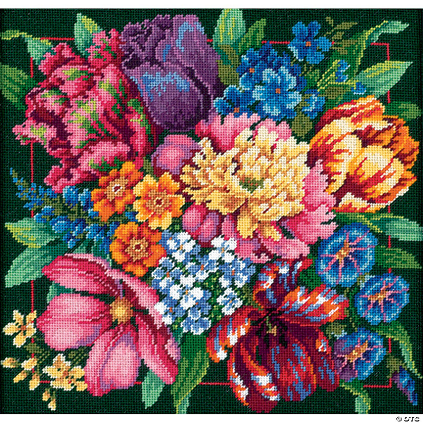 Needlepoint Kit -Floral Splendor