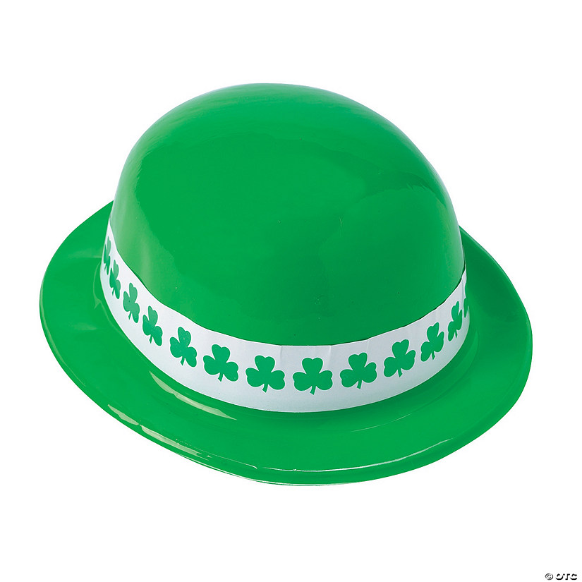 Neon Green Shamrock Band Derby Hats Image Thumbnail