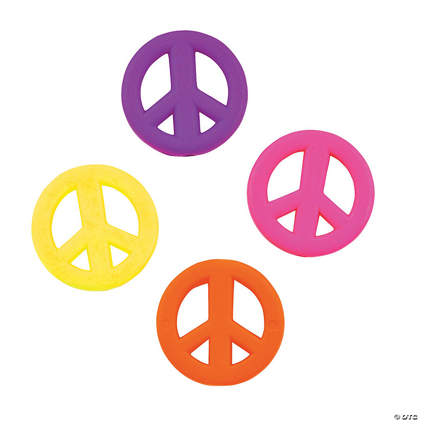 Neon Peace Sign Beads Discontinued