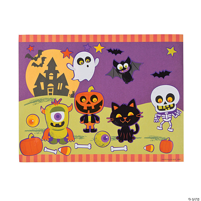 Neon Skeleton Sticker Scenes Image Thumbnail