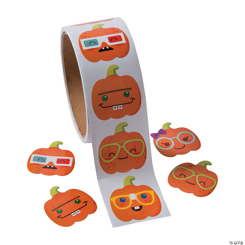 Nerdy Pumpkin Stickers Image Thumbnail