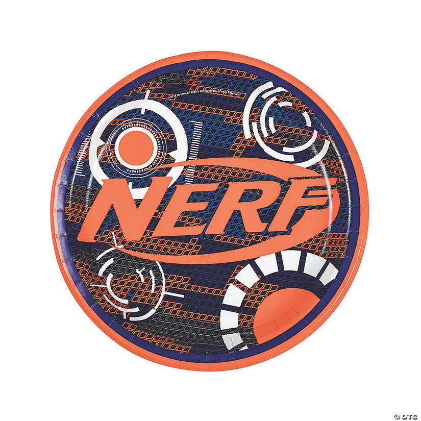 Nerf<sup>&#174;</sup> Round Paper Dinner Plates - 8 Ct. Audio Thumbnail