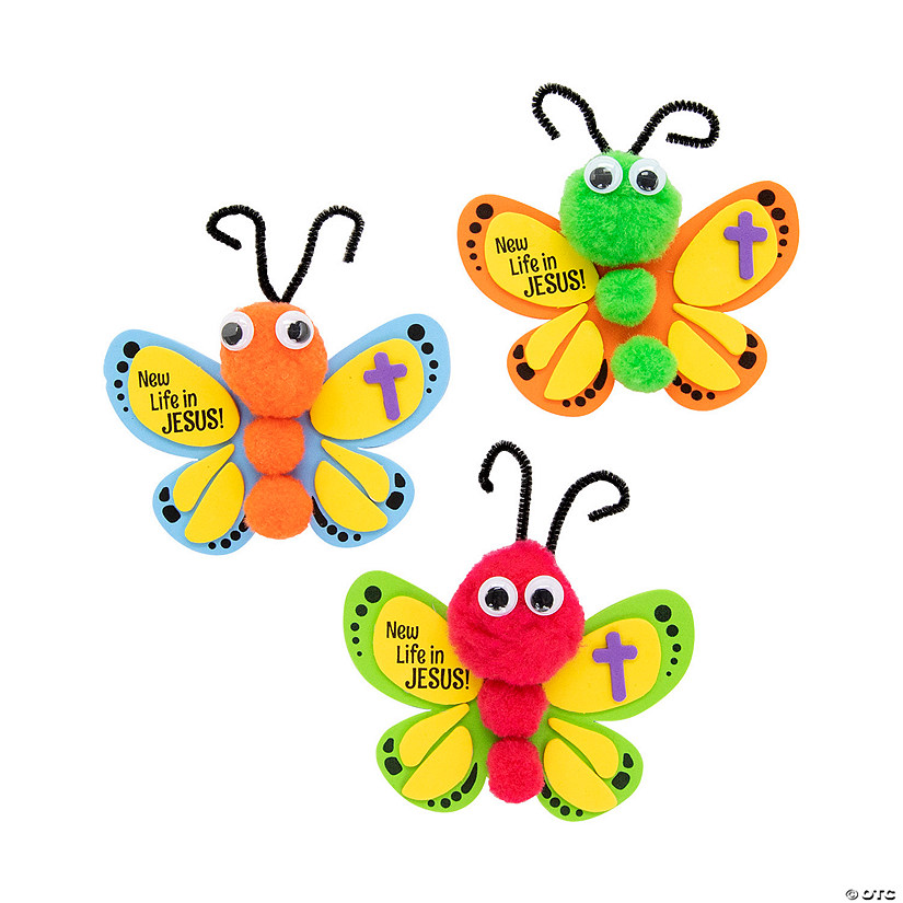 New Life in Jesus Butterfly Craft Kit Image Thumbnail