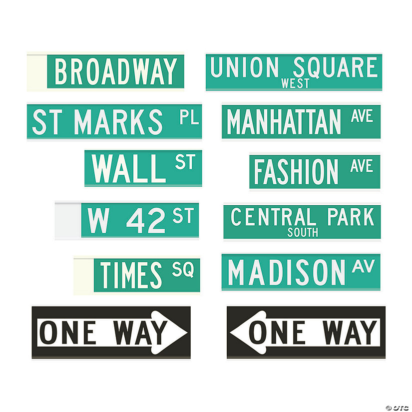 New York City Street Sign Cutouts Audio Thumbnail
