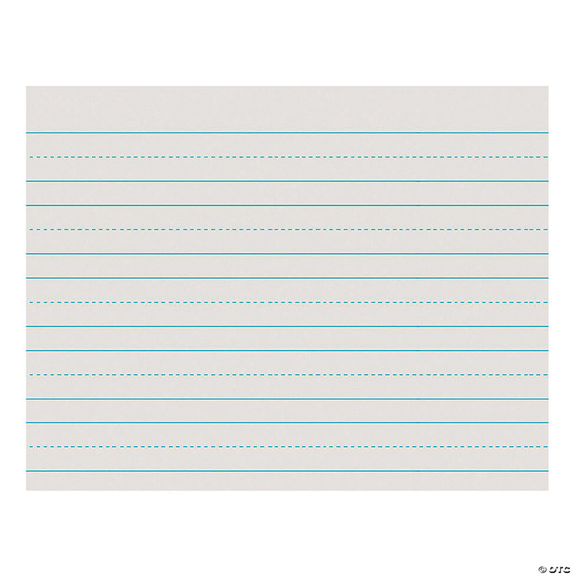 "Newsprint Handwriting Paper, Skip-A-Line, Grade 1, White, 1"" Ruled (Long Way), 11"" x 8.5"", 500 Sheets Per Pack, 5 Packs"