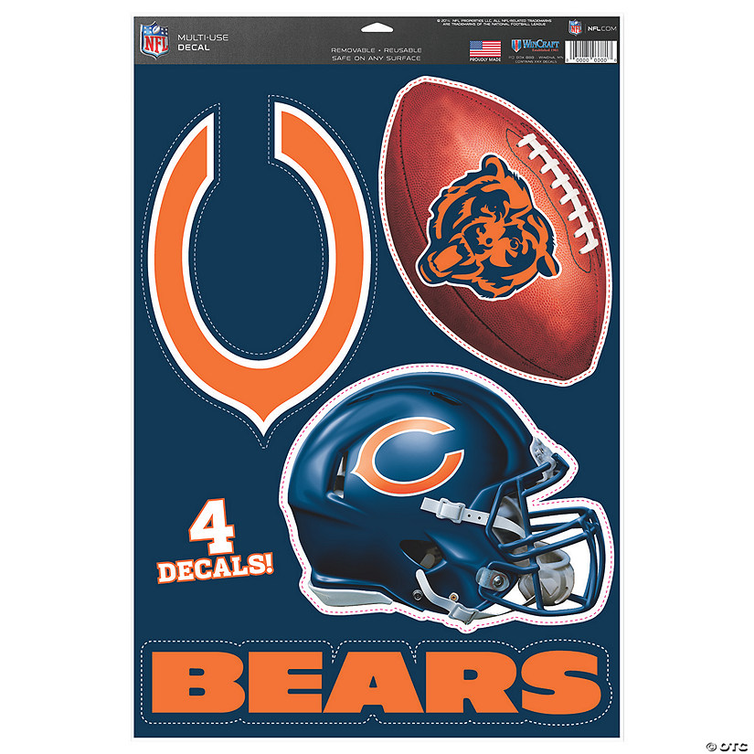 NFL® Chicago Bears™ Window Decals Audio Thumbnail