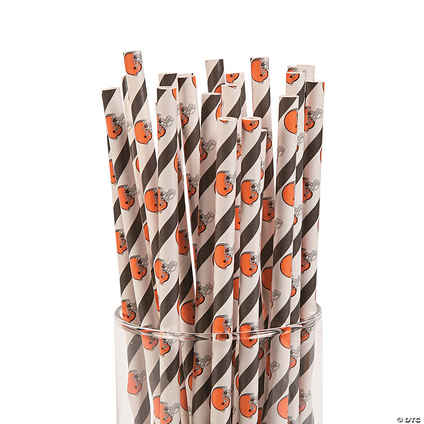 NFL® Cleveland Browns Paper Straws