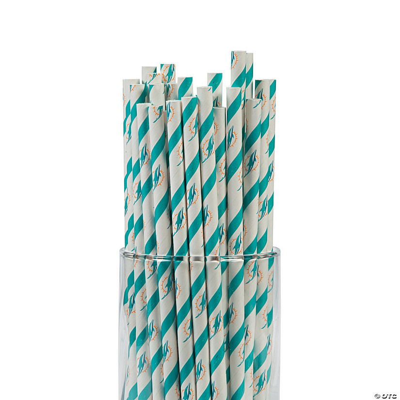 NFL® Miami Dolphins Paper Straws