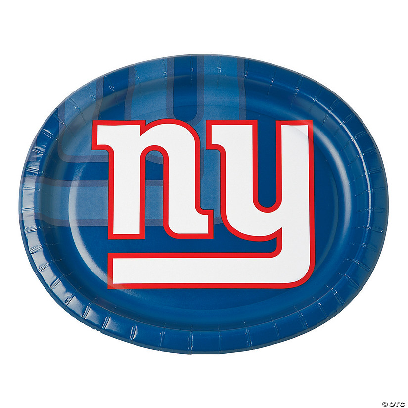 NFL® New York Giants™ Oval Paper Dinner Plates - 8 Ct. Audio Thumbnail
