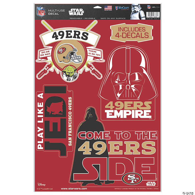NFL® San Francisco 49ers™ Star Wars™ Decals