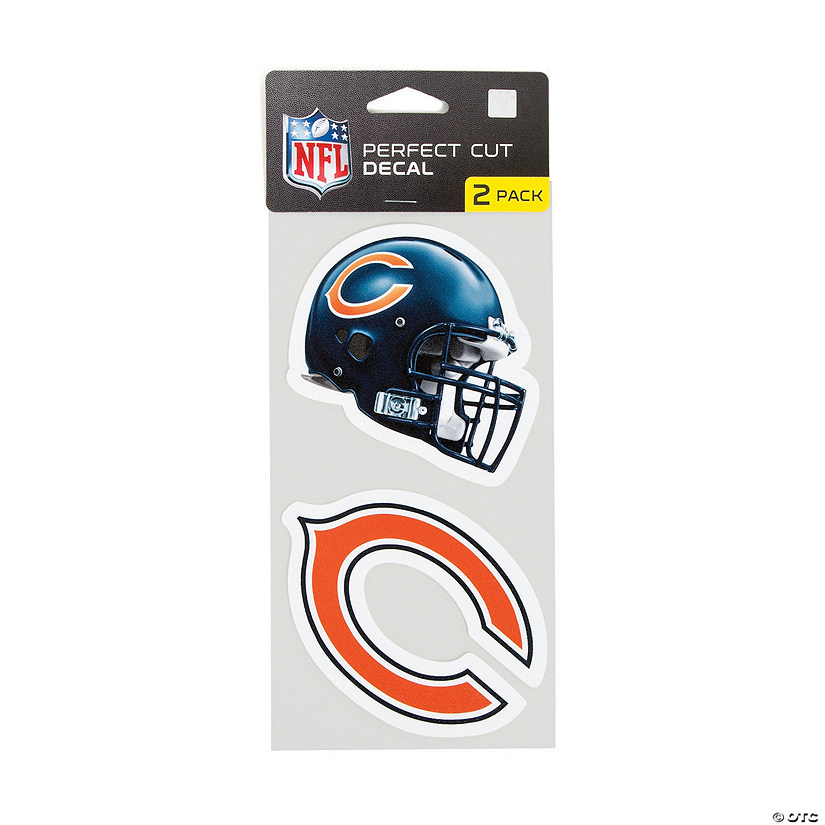 3 EACH CHICAGO BEARS HELMETS BIRTHDAY PARTY FAVORS FOOTBALL STICKERS