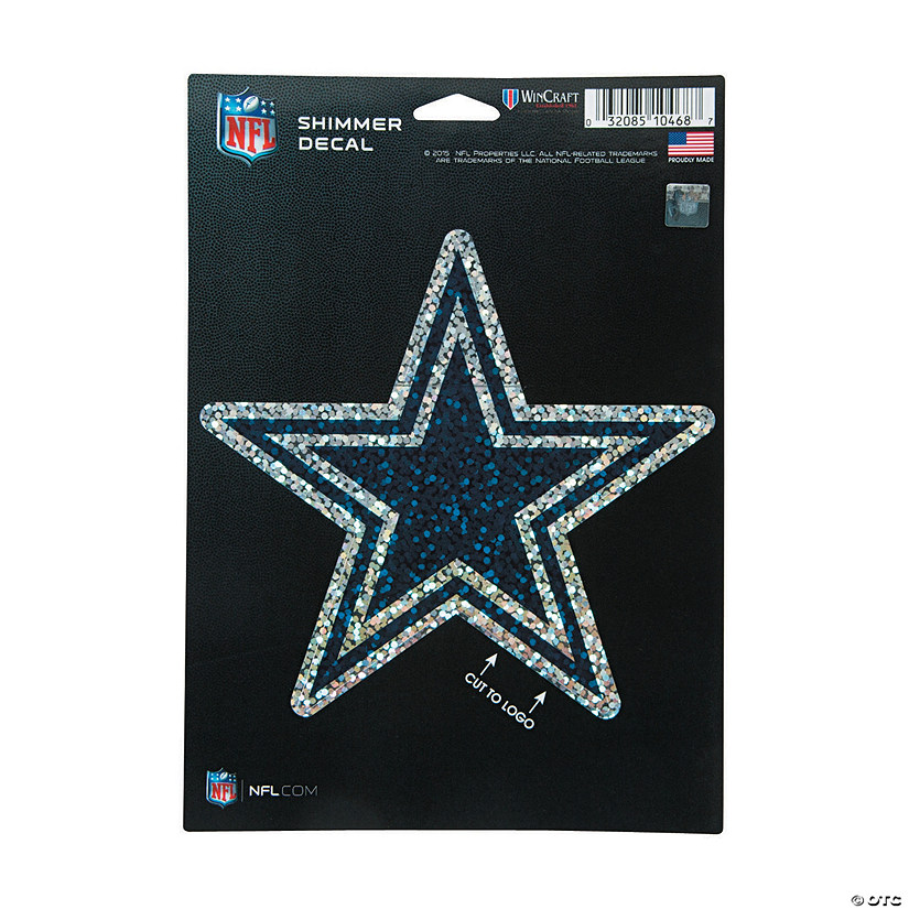 NFL<sup>&#174;</sup> Dallas Cowboys<sup>&#8482;</sup> Shimmer Decal Image Thumbnail