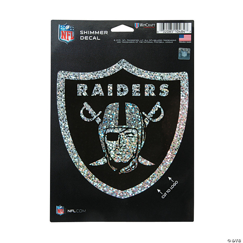 NFL<sup>&#174;</sup> Las Vegas Raiders<sup>&#8482;</sup> Shimmer Decal Image Thumbnail