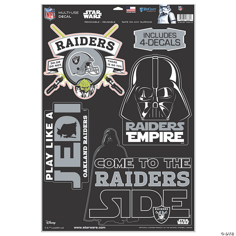 NFL<sup>&#174;</sup> Las Vegas Raiders<sup>&#8482;</sup> Star Wars<sup>&#8482;</sup> Decals Audio Thumbnail