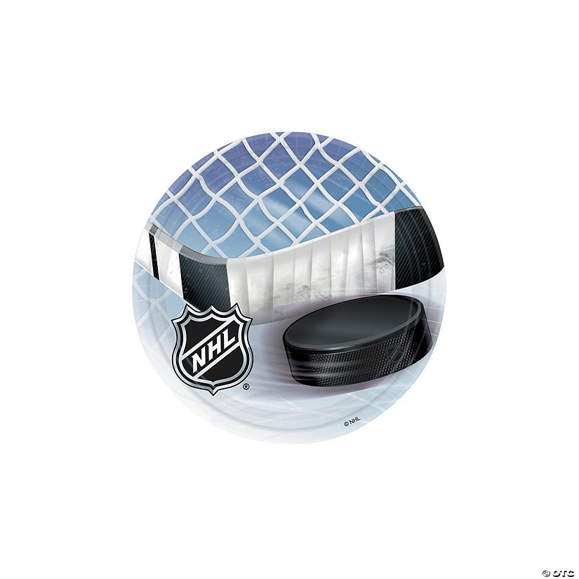 NHL<sup>&#174;</sup> Ice Time Round Paper Dessert Plates - 8 Ct. Audio Thumbnail
