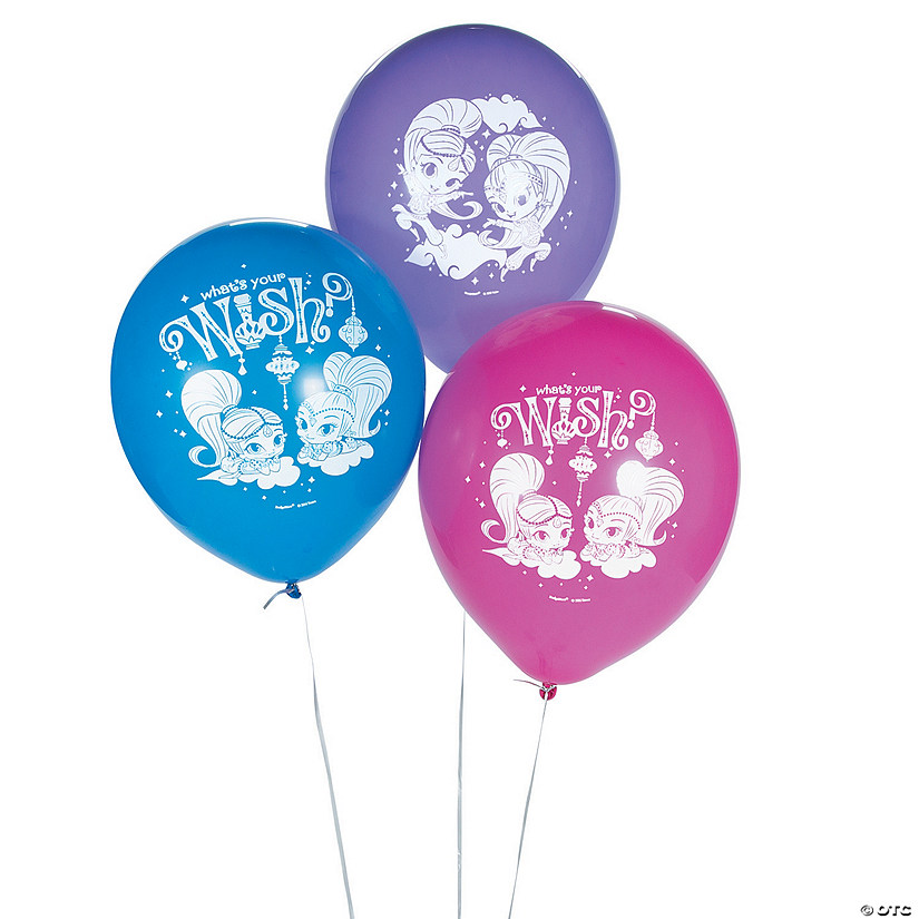 3 Pc SHIMMER AND SHINE HAPPY Birthday Party Balloons Decoration Supplies Genie