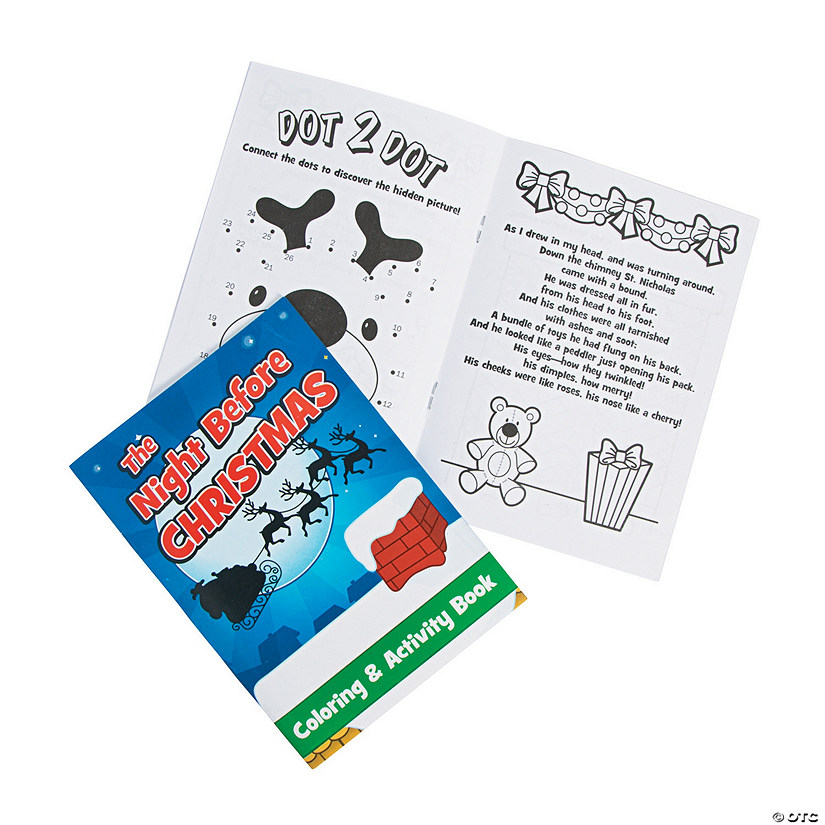 Night Before Christmas Activity Books