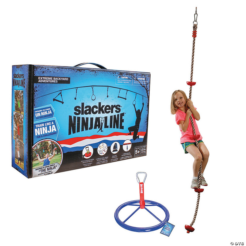 Ninja Line, Climbing Rope and Spinner Wheel: Set of 3